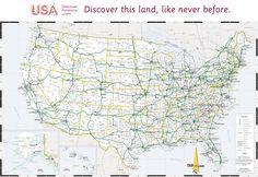 Road map USA Detailed road map of USA Large clear highway map of