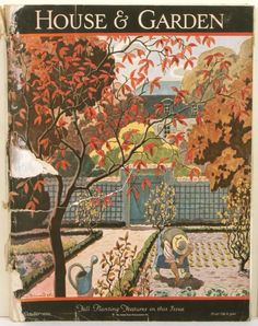 House & Garden. 1926 - 10 October | Volume L. Number Four. Cover by Pierre Brissaud.