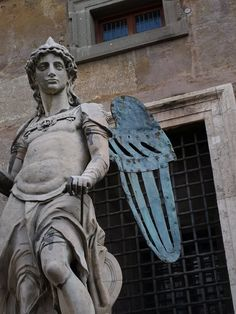 Angel statue, castle St. Angelo, Rome. Lookinf forward to seeing this this summer.