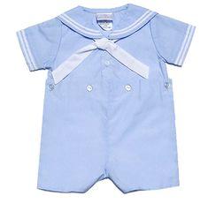 8f659d5b8716 Petit Ami Light Blue Button-On Sailor Suit for Infant Toddler Boys Little  Boy