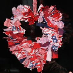 DIY Valentine's Day Crafts: Make a Heart Shaped Rag Wreath - Yahoo! Voices - voices.yahoo.com