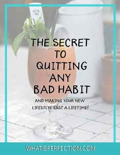 Do you have bad habits you've been wanting to quit but don't have the strength or push to actually commit to self improvement? Quit Smoking, Quit Drinking, Stop Eating Fried Foods, Quit pushing off your workouts - whatever it is, these simple secret steps will teach you how to quit a bad habit and make that change last a lifetime, with this free self improvement E-Guide!