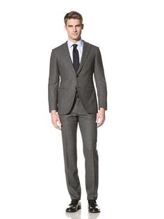 75% OFF Burberry Men\'s Houndstooth Suit (Charcoal)