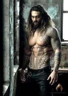 """justiceleague: """"New promo image of Jason Momoa as Aquaman """""""
