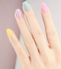 50 Most Cutest and Easy Light Colorful Nails Idea - Each Nail with Different Colors for Beginner - Page 48 Love Nails, How To Do Nails, Pretty Nails, My Nails, Nail Art Designs, Nail Design, Gel Nails At Home, Easter Nails, Easter Color Nails