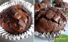 J'ai testé et j'approuve : ces muffins nature ou chocolat ne sont pas secs ! Sweet Recipes, Snack Recipes, Cooking Recipes, Snacks, Macarons, Starbucks, Desserts With Biscuits, Brownie Cake, Chocolate Muffins