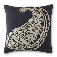 Paisley Appliqué Pillow Cover #williamssonoma