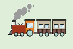 How to Draw a Train. Trains are fun to draw! This tutorial will show you how to draw a bullet train and a cartoon train. Draw a cylinder for the steam engine. Cartoon Drawings, Easy Drawings, Zug Illustration, Basic Drawing For Kids, Train Cartoon, Train Coloring Pages, Train Drawing, Baby Applique, Train Art
