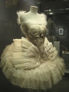 Anna Pavlova's Swan Lake Ballet Dress with goose feathers, 1907
