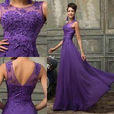 Chiffon Wedding Evening Dresses Party Ball Gown Prom Bridesmaid Dress PLUS SIZE #GraceKarin #BallGown #Formal