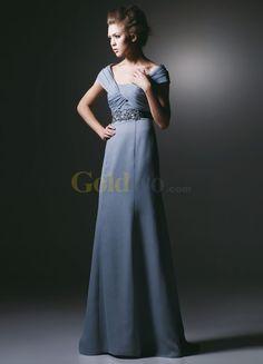 [US$195.99] Sheath Sash Shoulder Straps Satin Evening Gown