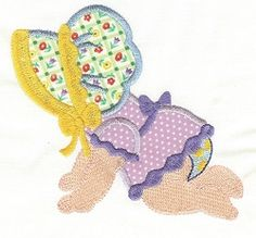 Sunbonnet Baby Crawling - 2 Sizes! | Baby | Machine Embroidery Designs | SWAKembroidery.com Designs by Juju