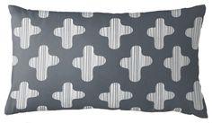 Guildery | Lined Cross Lumbar Throw Pillow designed by @maika goods #pillows www/guildery.com