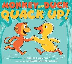 3.2.2015.  Monkey and Duck Quack Up! by Jennifer Hamburg (February 2015).  Oh boy, oh boy, a rhyming book to rival Rhyming Dust Bunnies, with a final punch line as good as Bark, George!  For older preschoolers and any kid who loves silly stories.