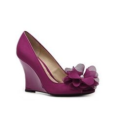 Lulu Townsend Blossom Wedge Pump - dsw - it comes in purple and ivory!