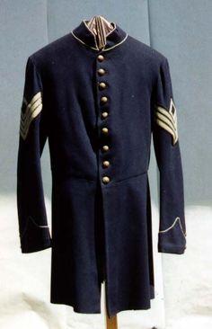 Original Civil War military frock coat. First Sgt rank