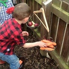 My little boy and my mindees loved weighing out all the fruit and veg from our f…, – natural playground ideas Outdoor Education, Outdoor Learning Spaces, Kids Outdoor Play, Outdoor Play Areas, Outdoor Fun, Outdoor Play Kitchen, Diy Mud Kitchen, Forest School Activities, Activities For Kids