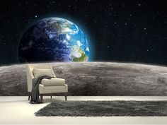 1000 images about jorrit 39 sgalaxy kamer makeover on for Earth moon wall mural