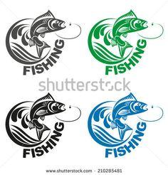 Carp and fishing logo