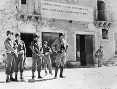 THE CAMPAIGN IN SICILY 1943: Gen. George S Patton and staff officers at an unidentified Sicily location.