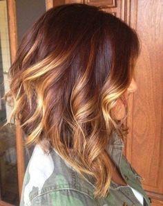 Ombre Medium Haircut | Wavy Hair Ideas by Makeup Tutorials at http://www.makeuptutorials.com/medium-haircuts-shoulder-length-hair