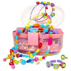 Pop Beads, Jewelry Making Kit, Art and Craft Toys Gift is a toy our 6 year old girl loves to play with. These are super popular toys!
