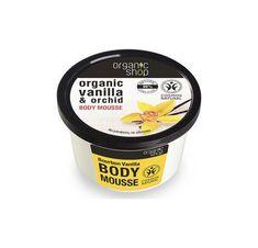 Organic Shop Organic Bourbon Vanilla & Orchid Body Mousse 250 ml Body Cream Mousse, Body Butter, Shea Butter, Cosmos, Bourbon, Green Coffee Extract, Vanilla Orchid, Light Texture, Fragrance Parfum