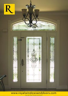 Single Entry Door, Two Side Lites, Transom, White Finish, Designer Glass Entry Doors With Glass, Exterior Doors, Door Design, Long Island, Windows And Doors, Indoor, Curtains, Rustic, Contemporary