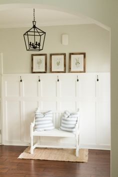 Board and batten - 60 Stunning Farmhouse Entryway Decor Ideas – Board and batten Home Renovation, Home Remodeling, Home Design, Design Ideas, Diy Home Decor Rustic, Boho Decor, Decoration Entree, Entryway Wall, Entry Way Design