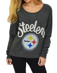 Pittsburgh Steelers boatneck fleece sweatshirt