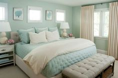 68 Cozy Modern Coastal Bedroom Decorating Ideas - Page 31 of 70 Ocean Bedroom, Bedroom Sets, Home Bedroom, Diy Bedroom Decor, Master Bedroom, Home Decor, Girls Bedroom, Bedroom Furniture, Decor Room