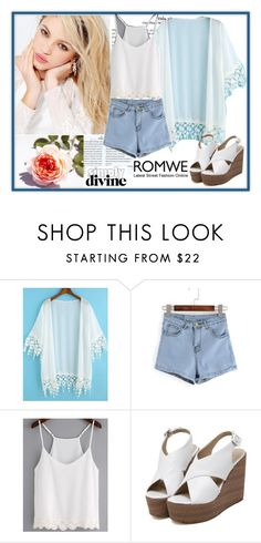 """Romwe - White Kimono"" by azraa91 ❤ liked on Polyvore featuring Silvana and romwe"
