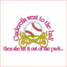 Cinderella Softball Tee Sizes 2 4 6 8 10 by OhSewCuteToo on Etsy, $20.00