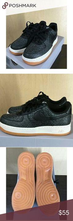 Nike AF1 Air Force 1 Low Premium Sz 5.5Y - Womens 6.5 Brown Orange Shoes EUC