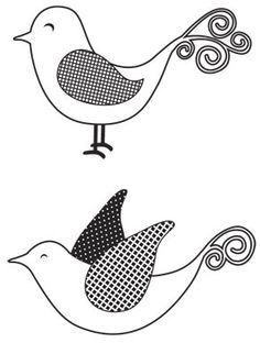 Embroidery Pattern from Mini Clear Stamp - Birdies at kaisercraft.com.au. jwt