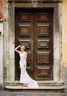 Ethereal bridal portrait by Archetype Studio Inc | Dress by Pronovias