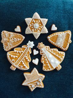 Christmas collection of homemade gingerbreads