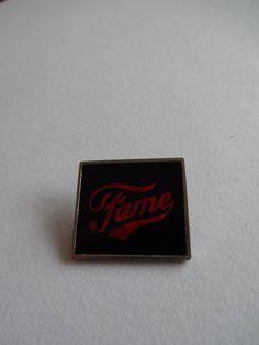 Fame lapel pin badge  ,  England rock metal pin , enamel 1980s vintage pin ,  music memorabilia tie tack by MetalmanEd on Etsy