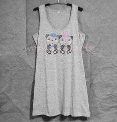 Panda printed tank top dress prints racer back by WorkoutShirts Harry Potter Tank Top, Tank Top Dress, Handmade Dresses, Printed Tank Tops, Panda, Athletic Tank Tops, Trending Outfits, Momma Bear, Kawaii Shop