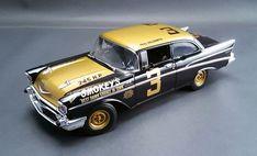 Acme 1957 Smokey Yunick Chevy Stock Car Scale Diecast-Acme 1957 Smokey Yunick Chevy Stock Car Driven by Paul Goldsmith Chevrolet Bel Air, Chevrolet Chevelle, Sports Car Racing, Race Cars, Nascar Racing, Nascar Daytona, Win Car, Chevy Models, Slot