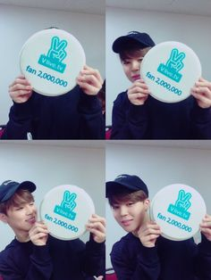 Jimin ❤ BTS congratulations for 2 milion followers on the V app.