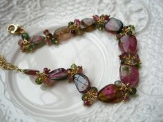Custom for MichaelWatermelon tourmaline by thebijoubabe on Etsy, $232.00
