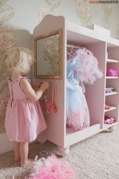 DIY Dress Up Center Plans- Free & Easy Plans | rogueengineer.com/ #DressUpCenter.  #DiyBaby&Child