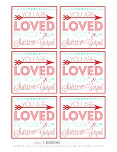 Visiting Teaching Valentine's Cards // Free Printable