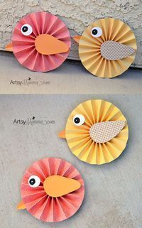 DIY Spring Project: Make Paper Rosette Birds using DCWV Paper Stacks & Xyron products – would look pretty as a banner! DIY Spring Project: Make Paper Rosette Birds using DCWV Paper Stacks & Xyron products – would look pretty as a banner! Kids Crafts, Easter Crafts, Diy Spring, Spring Crafts, Holiday Crafts, Spring Summer, Spring Party, Paper Rosettes, Paper Flowers