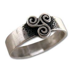 Lucia/'S 925 Solid Sterling Silver Claddagh Anneaux Irlandais cœur celtique Femmes Bague
