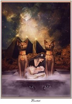 Egyptian Goddess Bast, Also Known As Bastet