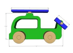 Ana White | Build a Wood Push Car, Truck and Helicopter Toys | Free and Easy DIY…