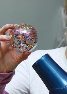 jolie idee pour faire vous memes une jolie boule de noel transparente