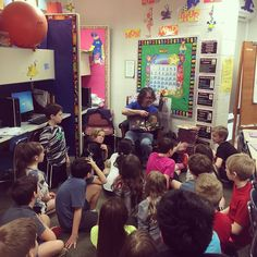 So glad to be invited to join the 4th graders at Pine Run as their Mystery Reader today.